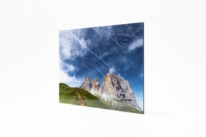 Dolomiten Fotoabzug hinter Acryl Alu Dibond Wandbild FOTOFOLIO.DE