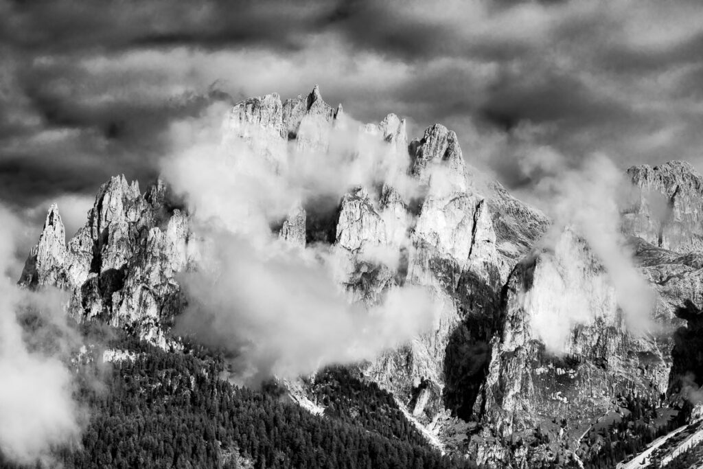 Bergbild der Rosengartengruppe Gruppo del Catinaccio - Wandbild, Dolomiten