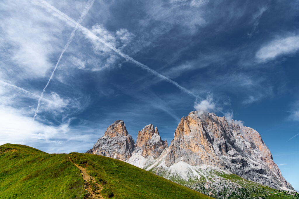 Bergbild - Sellajoch Dolomiten Bergbild, Südtirol – Landschaftsfotografie Wandbild