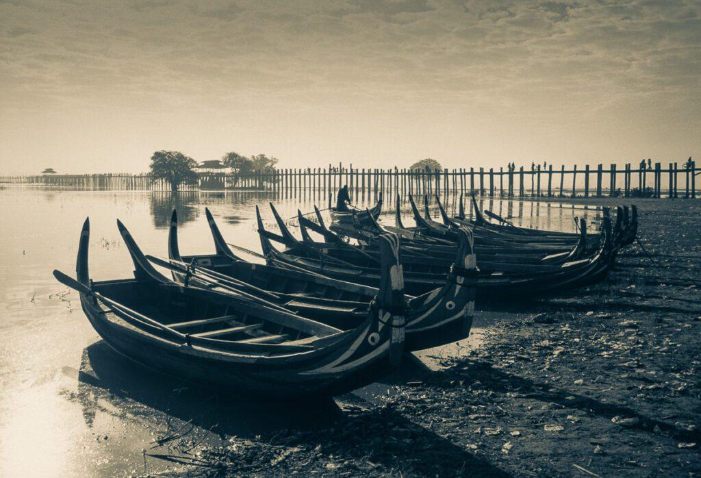 Fischerboote am Inle-See - Myanmar Burma