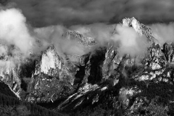 Landschaftsbild - Bergbild - Rosengartengruppe Gruppo del Catinaccio - Wandbild, Dolomiten