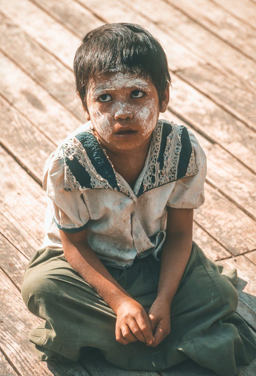 Myanmar Burma Vintage Wandbild Kind