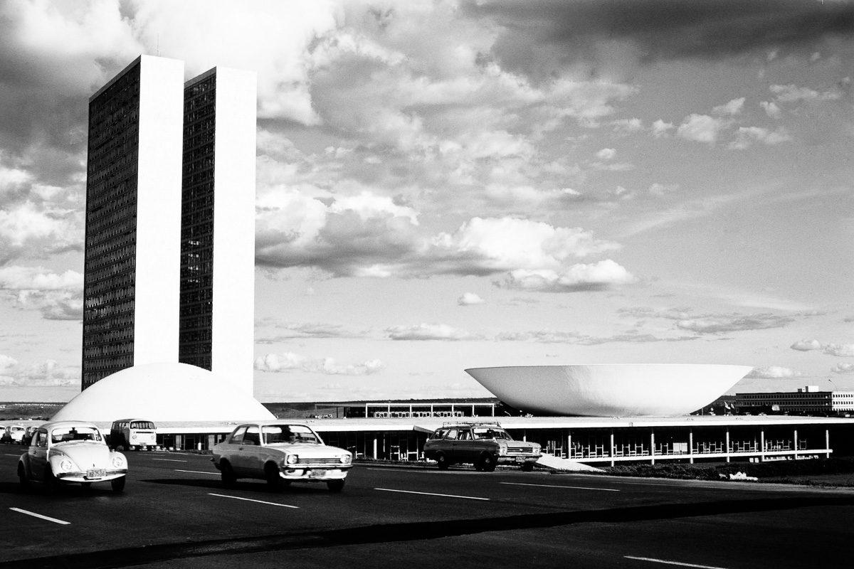 Vintage Wandbild Zwillingstürme Brasilia - Oldtimer Bild