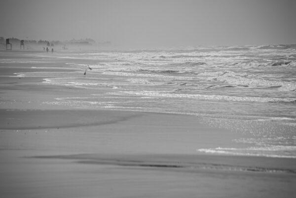Blick über den Strand in Süd Brasilien – Rio Grande du Sul, Brasilien