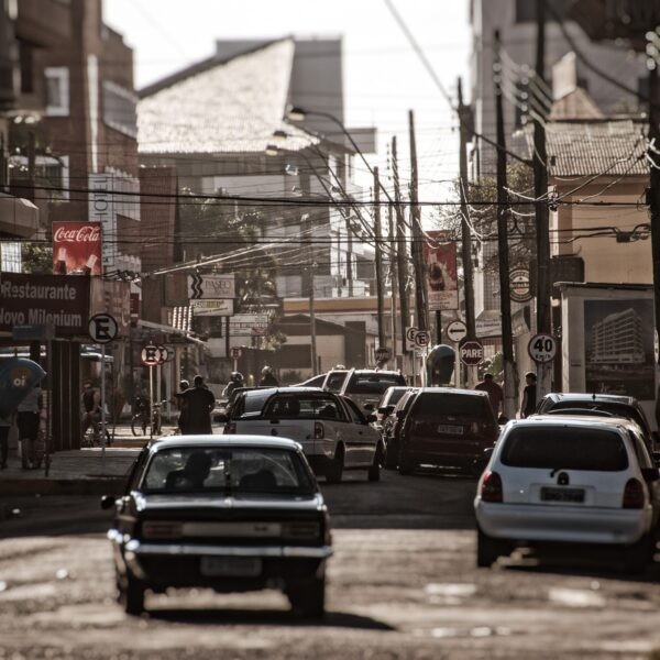 Straßen Chaos in Brasilien – Wandbild Brasilien