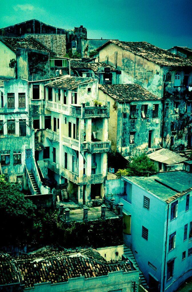 Verfallene Häuser Brasilien – Vintage Wandbild Brasilien