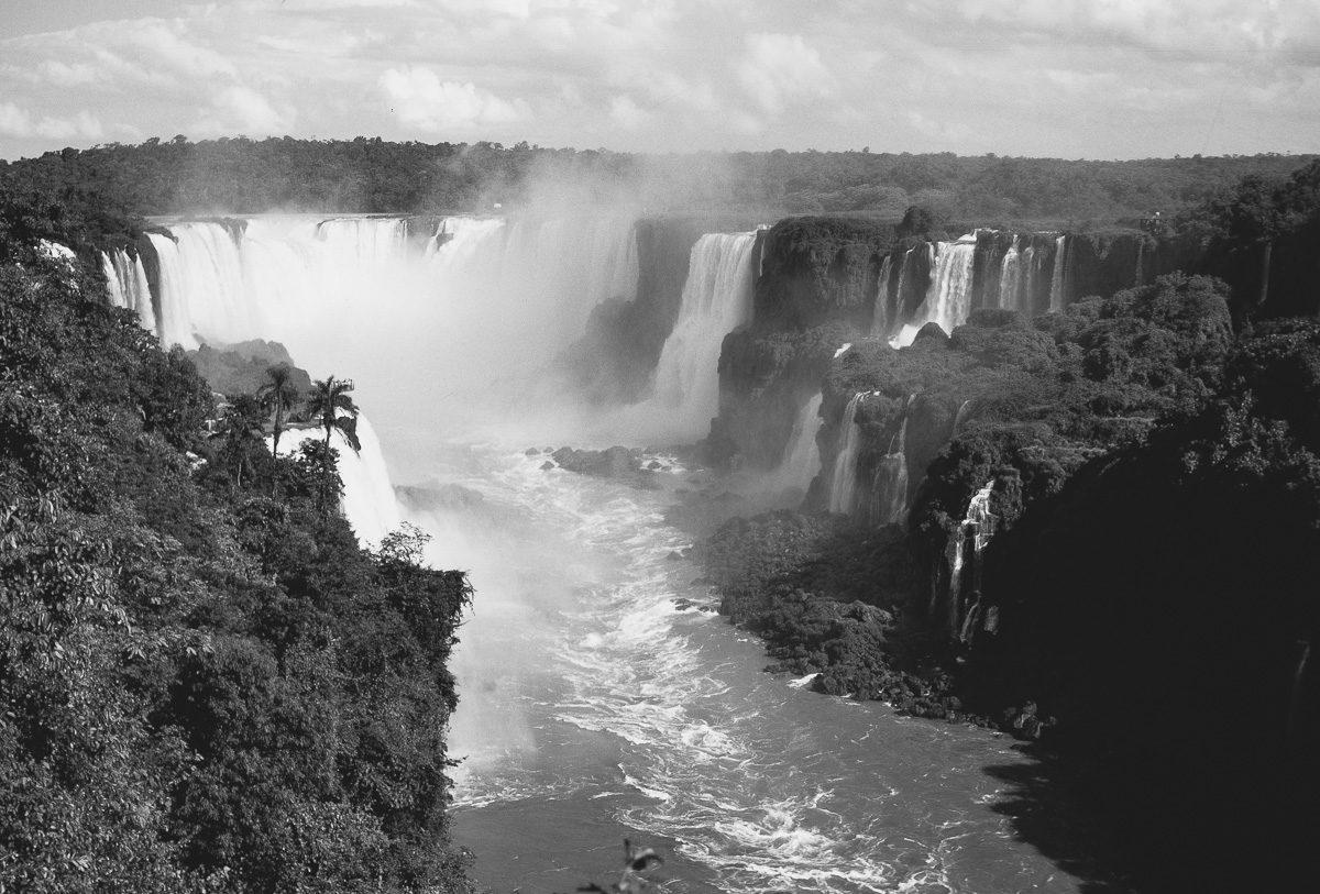 Vintage Bild von Iguazú-Wasserfälle - Brasilien