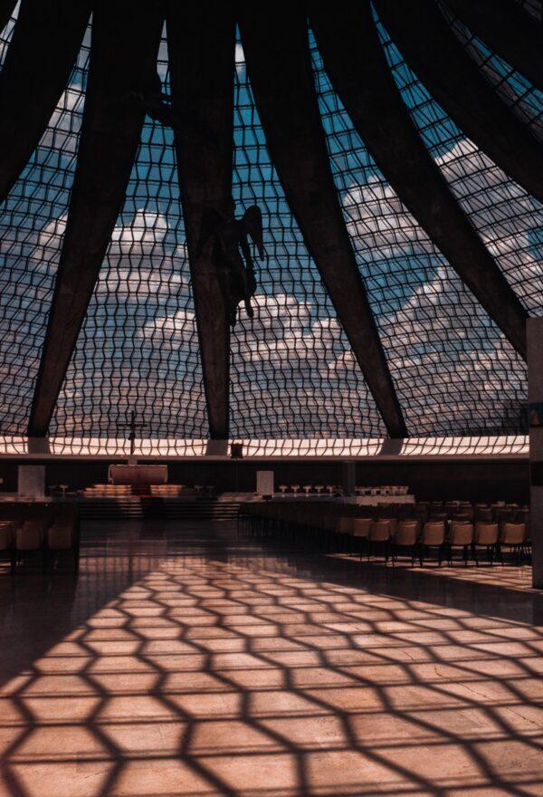 Vintage Bild – Kathedrale von Brasília - Brasilien