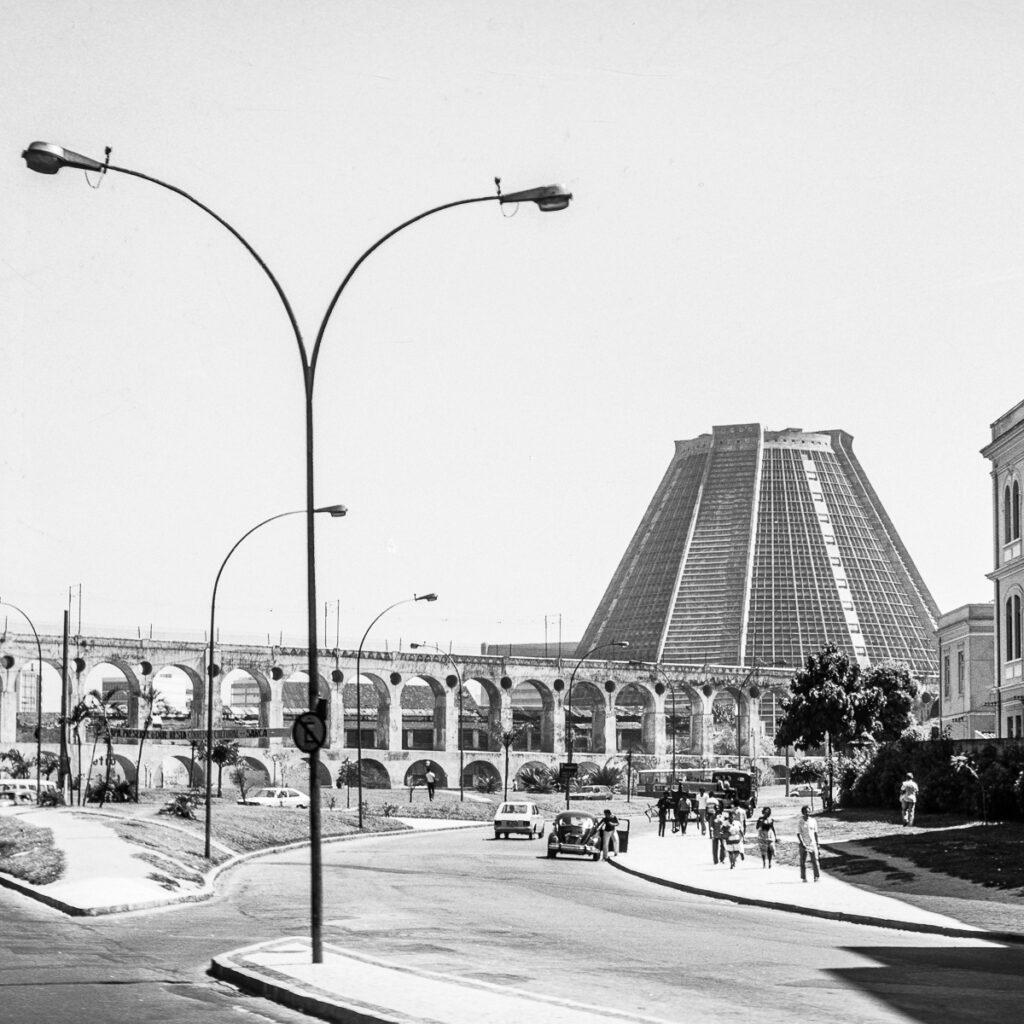 Vintage Bild Straßenszene Brasilien – Vintage Wandbild Brasilien